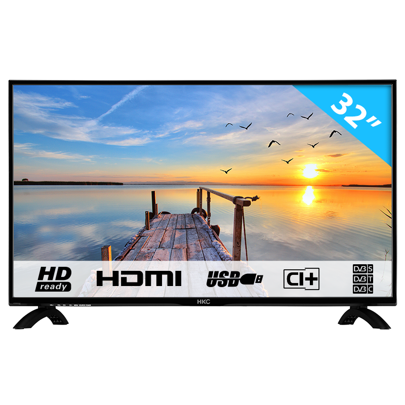 Hkc 32c9a Hd Led Tv 80 Cm 32 Inch With Triple Tuner Ci Mediaplayer Usb 2 0 Type B Hkc Shop
